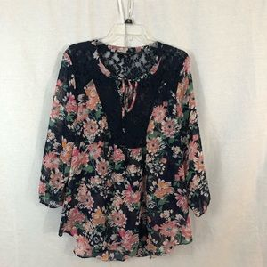 Zac  and Rachel Floral Lacey blouse